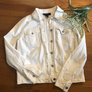 Style and Co. Cream Jean Jacket S
